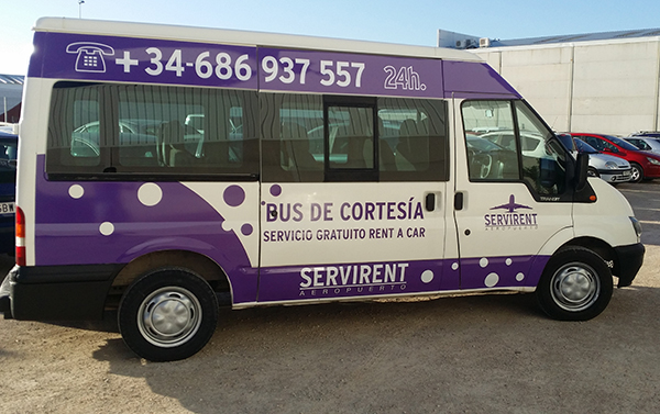 mini bus de cortesia