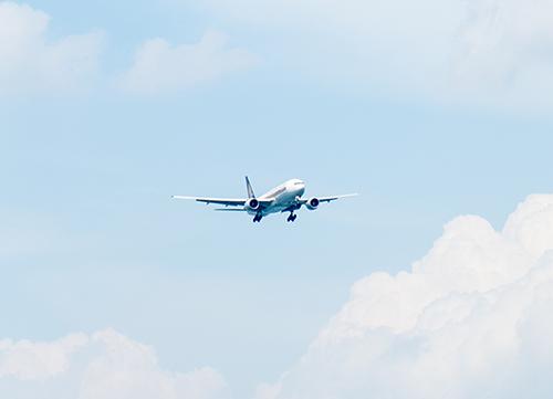 avión aproximándose